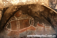 Bunjil Shelter (Grampians VIC) - Aboriginal art