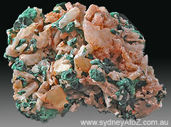 Cerusite on Malachite, Rum Jungle Northern Territory Australia